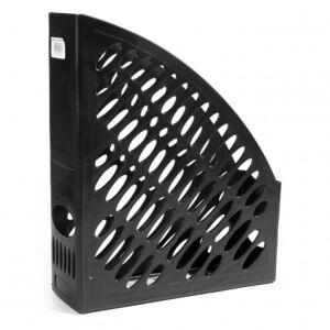 Iratpapucs műanyag 8 cm fekete 80x300x250mm 2050r