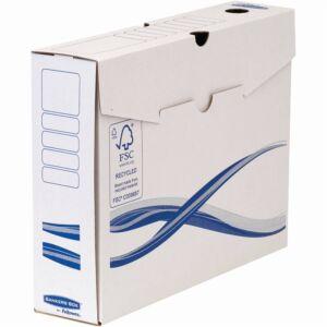 Archiváló doboz A4+, 80 mm, FELLOWES Bankers Box Basic, 25 db/csomag, kék-fehér