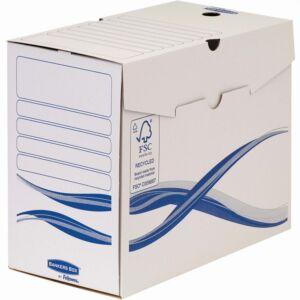 Archiváló doboz A4, 150 mm, FELLOWES Bankers Box Basic, 25 db/csomag, kék-fehér