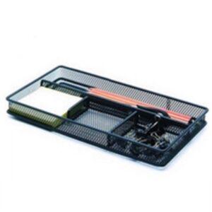 Fémhálós asztali rendező 4 részes fekete Z3319A