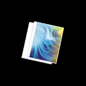 Hőkötőborító, 25 mm, 201-laptól, A4, FELLOWES Standard, 50 db/csomag, fehér