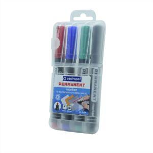 Permanent marker CENTROPEN 8566 kerek végű, 2,5mm, 4db-os készlet