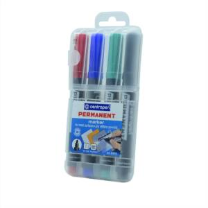 Permanent marker CENTROPEN 8576 vágott végű, 1-4,6 mm, 4db-os készlet