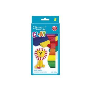 Gyurma CONNECT 8 színes, 152 gr, felaksztható karton dobozban