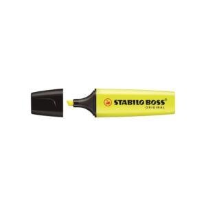 Szövegkiemelő 2-5mm vágott hegyű, STABILO BOSS 70/24 sárga