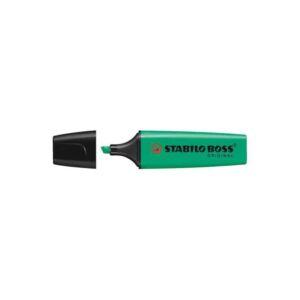 Szövegkiemelő 2-5mm vágott hegyű, STABILO BOSS 70/33 zöld