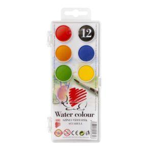 Vízfesték 12x22,5mm Süni ICO 12 klf. szín