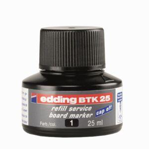 Tinta utántöltő táblamarkerhez 25ml EDDING BTK25 fekete