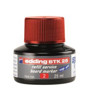 Tinta utántöltő táblamarkerhez 25ml EDDING BTK25 piros