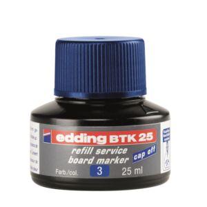 Tinta utántöltő táblamarkerhez 25ml EDDING BTK25 kék