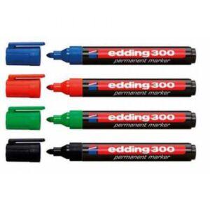 Permanent marker 1,5-3mm kerek EDDING 300 piros