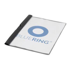 Gyorsfűző klip mappa A4 műanyag 30 laphoz fém klippes fekete BLUERING
