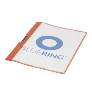 Gyorsfűző klip mappa A4 műanyag 30 laphoz fém klippes piros BLUERING