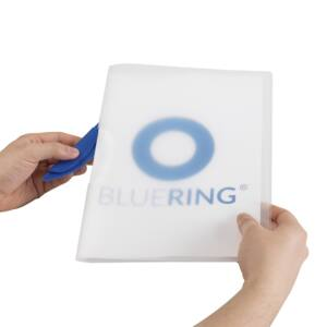 Gyorsfűző klip mappa A4 műanyag 30 laphoz műanyag klippes kék BLUERING