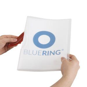 Gyorsfűző klip mappa A4 műanyag 30 laphoz műanyag klippes piros BLUERING