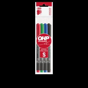 Permanent marker OHP S ICO 4 klf.szín 10db/dob