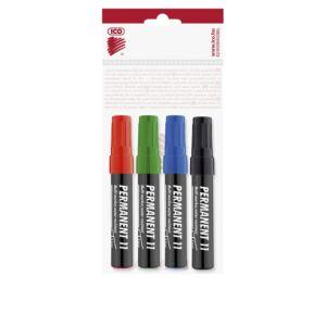 Permanent marker 3mm kerek ICO 11 4 klf.szín