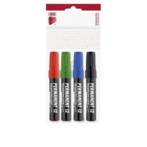 Permanent marker 1-4mm vágott ICO 12 4 klf.szín