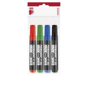 Permanent marker 3mm kerek ICO 11XXL 4 klf.szín