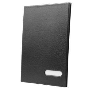 Aláírókönyv 14 lapos fekete