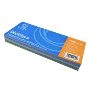 Elválasztócsík karton 190gr. 10,5x24 cm vegyes színek 100 db