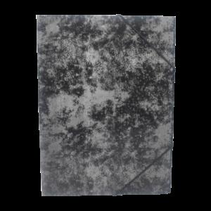 Gumis mappa A4 festett prespán karton BLUERING fekete