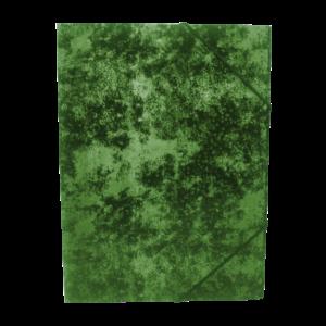 Gumis mappa A4 festett prespán karton BLUERING zöld