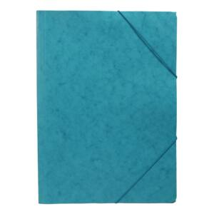 Gumis mappa A4 prespán karton türkiz BLUERING
