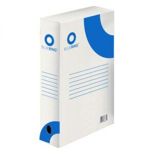 Archiváló boxy doboz karton A4 80mm gerinccel BLUERING