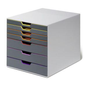 Irattároló műanyag VARICOLOR 7 színes fiókkal DURABLE