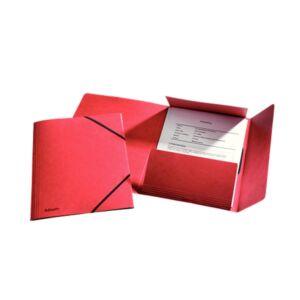 Gumis mappa karton prespán A4, 15 mm ESSELTE Rainbow piros