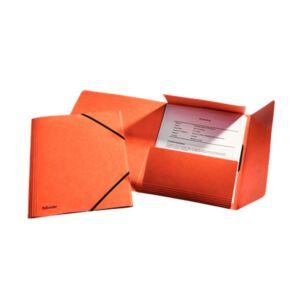 Gumis mappa karton prespán A4, 15 mm ESSELTE Rainbow narancssárga