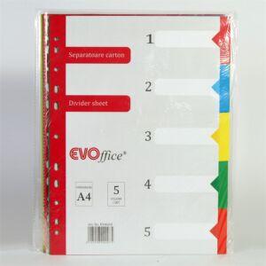 Elválasztólap színes karton 5 részes
