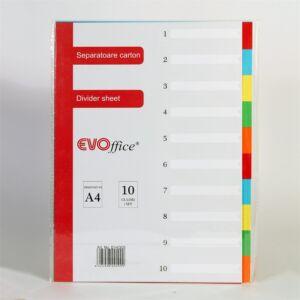 Elválasztólap színes karton 10 részes