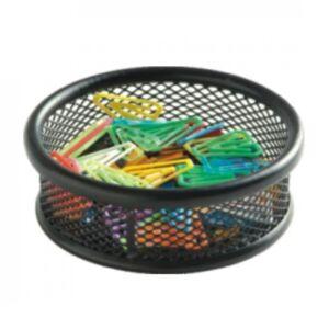 Fémhálós gemkapocstartó kerek fekete 41201