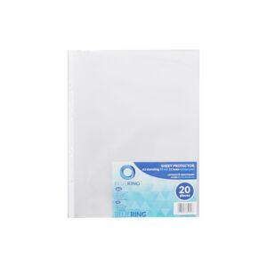 Genotherm lefűzhető, A3 álló 80 micron narancsos BLUERING 20 db/csomag