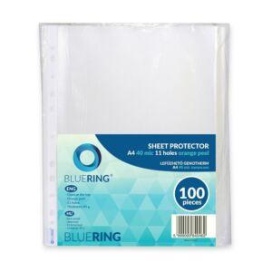 Genotherm lefűzhető, A4 40 micron narancsos BLUERING 100 db/csomag