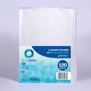 Genotherm `L` A4 80 micron víztiszta BLUERING 100 db