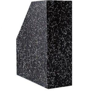 Iratpapucs karton márvány mákos 9 cm fekete BLUERING