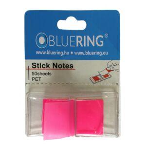 Jelölőcímke műanyag 50 lap 25x45 mm pink