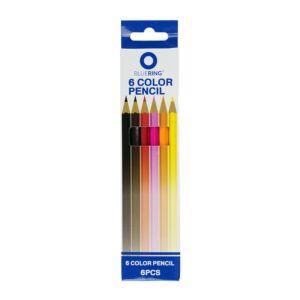 Színes ceruza készlet hatszögletű 6 szín BLUERING