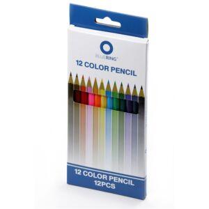 Színes ceruza készlet hatszögletű 12 szín BLUERING