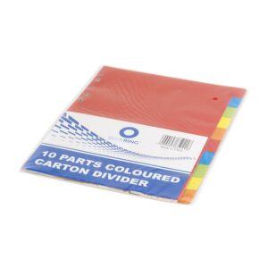 Elválasztólap színes karton 10 részes BLUERING