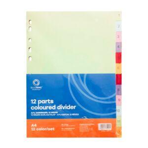 Elválasztólap színes karton 12 részes BLUERING
