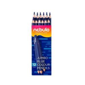Színes ceruza, jumbo háromszög, NEBULO kék,