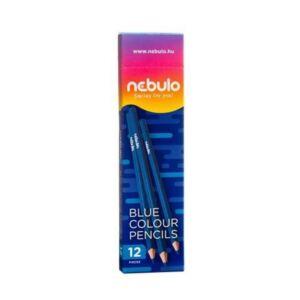 Színes ceruza, háromszög, NEBULO kék