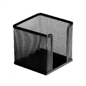 Fémhálós kockatömbtartó fekete 10x10x8 cm