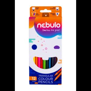 Színes ceruza háromszög 12 db -os NEBULO