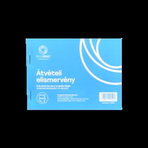 Átvételi elismervény A6 50x3lapos B.13-67/A/VX 40 db /csom BLUERING