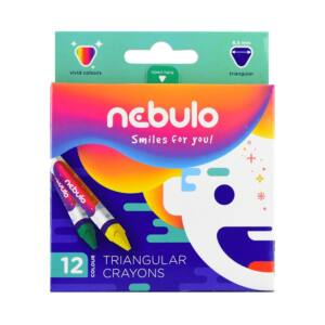 Zsírkréta háromszög 12 db -os NEBULO